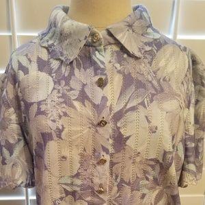 Lavender & Blue button front St John sweater